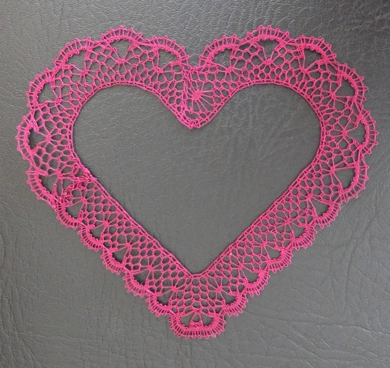 Coeur dentelle facebook