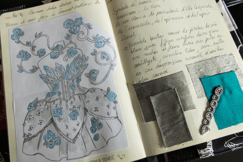 Mon carnet de croquis – La Reine des Roses
