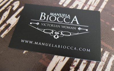 Nouvelles cartes de visite Manuela Biocca Designs