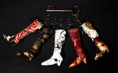 Nouveau ! Portes clés bottes Victoriennes