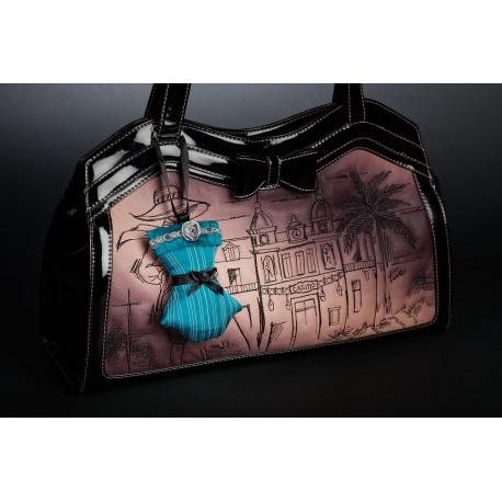 Bijou de sac Reine des Roses - Bleu