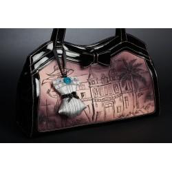 Corset Bag Charm Reine des Roses - Grey