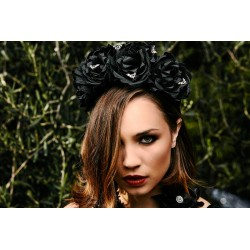 Crown of Roses Headband Roses Ténébreuses