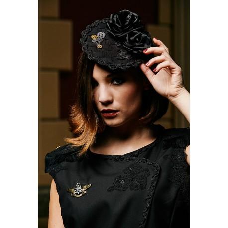 Hat Fascinator Magie Noire
