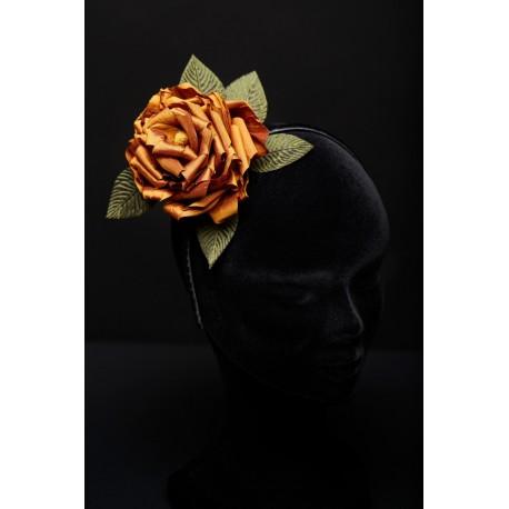 Serre-tête Roses Soie Mordorée - Elégance