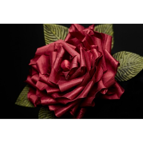 Red Silk Roses Headband - Passion