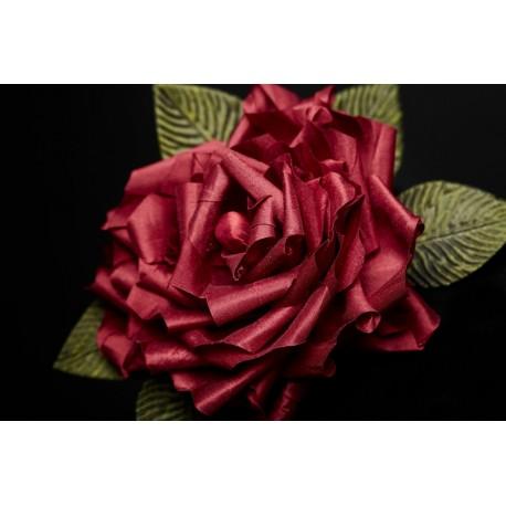 Serre-tête Roses Soie Rouge - Passion