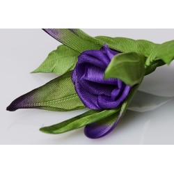 Brooch Bouton de Rose - Purple
