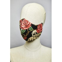 Skull Heads and Roses Frisson Mask