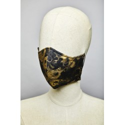 Fumerolles Mask (Black – Gold)