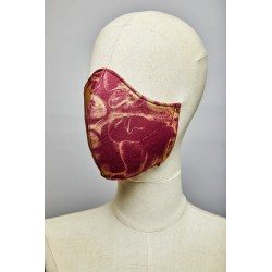 Fumerolles Mask (Burgundy – Gold)