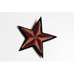 Gold – Purple Star Brooch