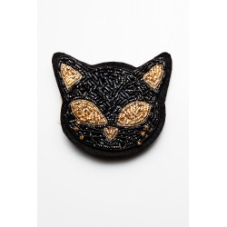 Black – Gold Cat Brooch