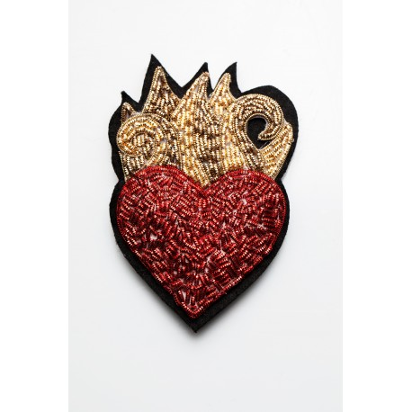 Red Sacred heart Brooch