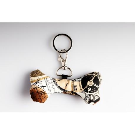Bone Key Ring – Steampunk Brown