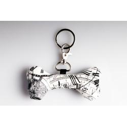 Bone Key Ring – Steampunk Black White