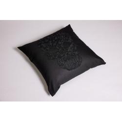 Black Skull Pillow Cover