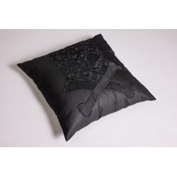 Black Skull Pillow Cover 2