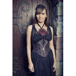 Corset Pendant Necklace - Black