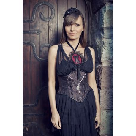 Corset Pendant Necklace - Black