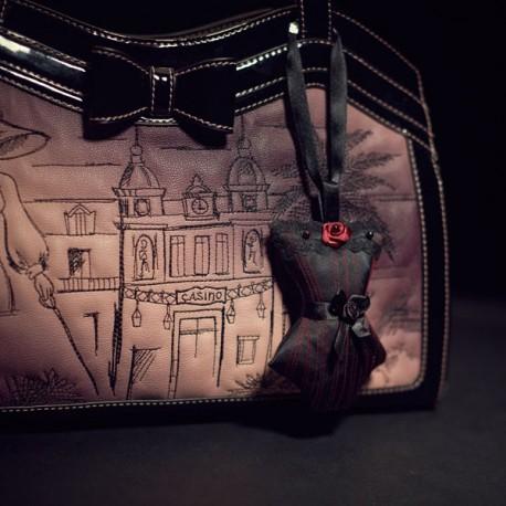 Corset Bag Charm Reine de Nuit