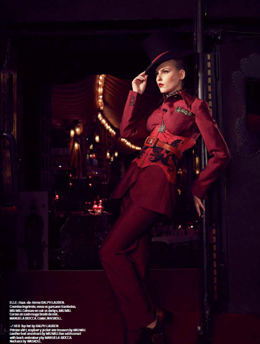 Victorian Woman au Moulin Rouge pour Côte Magazine!