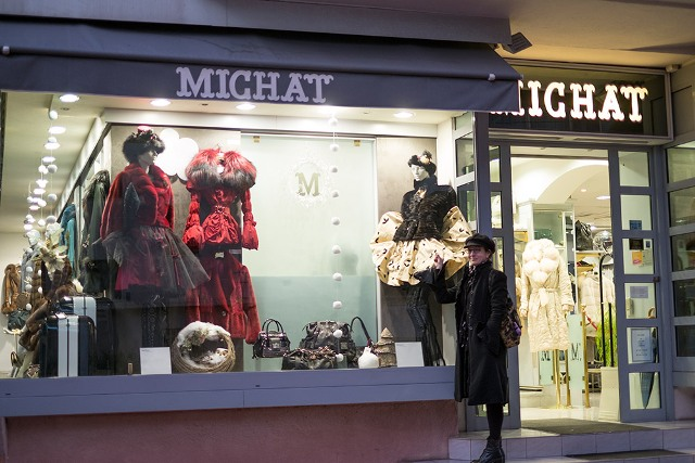 Mes nouvelles jupes en vitrine à Cannes!