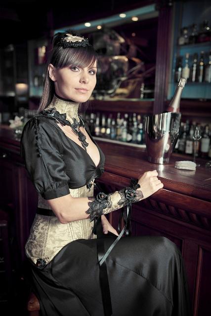 FOCUS – Bracelet baroque en soie «Eclat d'Or»