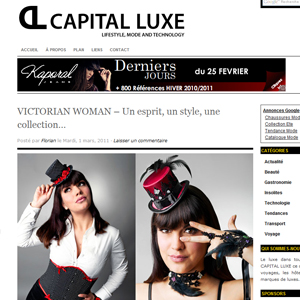 Victorian Woman sur le blog Capital Luxe