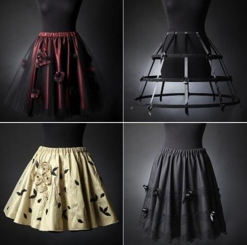 Les jupes luxe Victorian Woman – Carnet de croquis