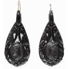 earrings jet 1870 av museum