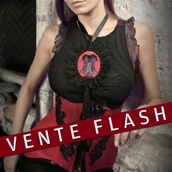 """VENTE FLASH corset serre-taille en soie """"Cabaret"""""""
