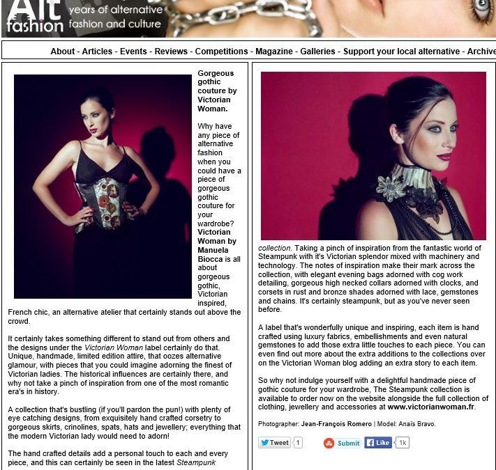 Alt Fashion, mode et culture alternative gothique