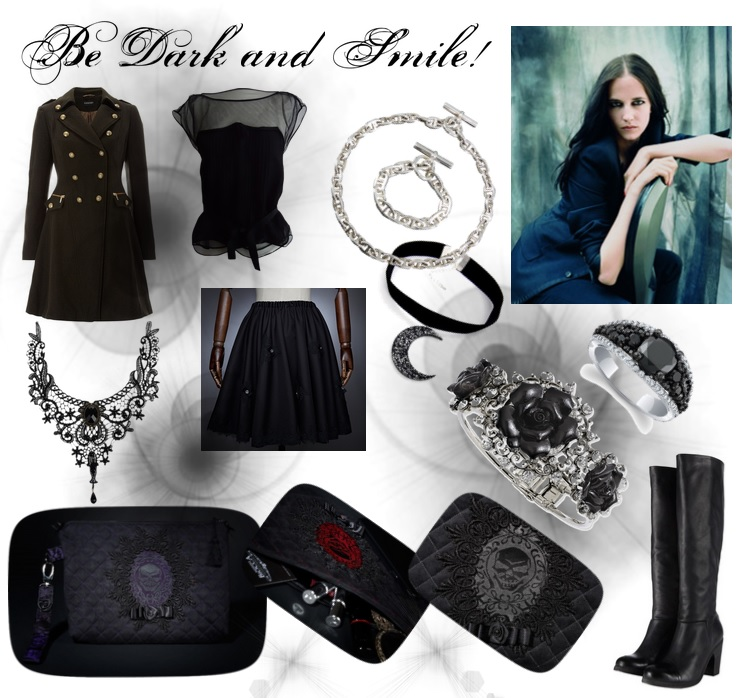 Polyvore look - Be dark and smile