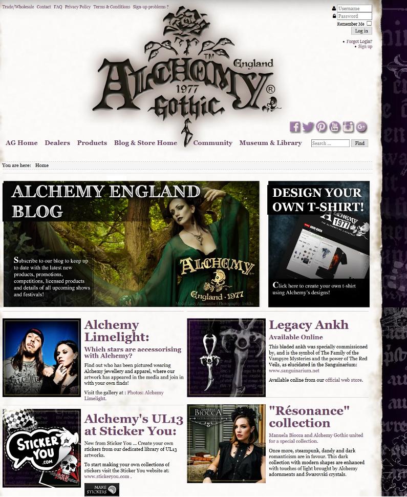 Pub blog Alchemy sur leur site