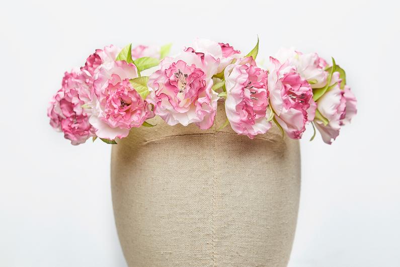 crown of silk roses
