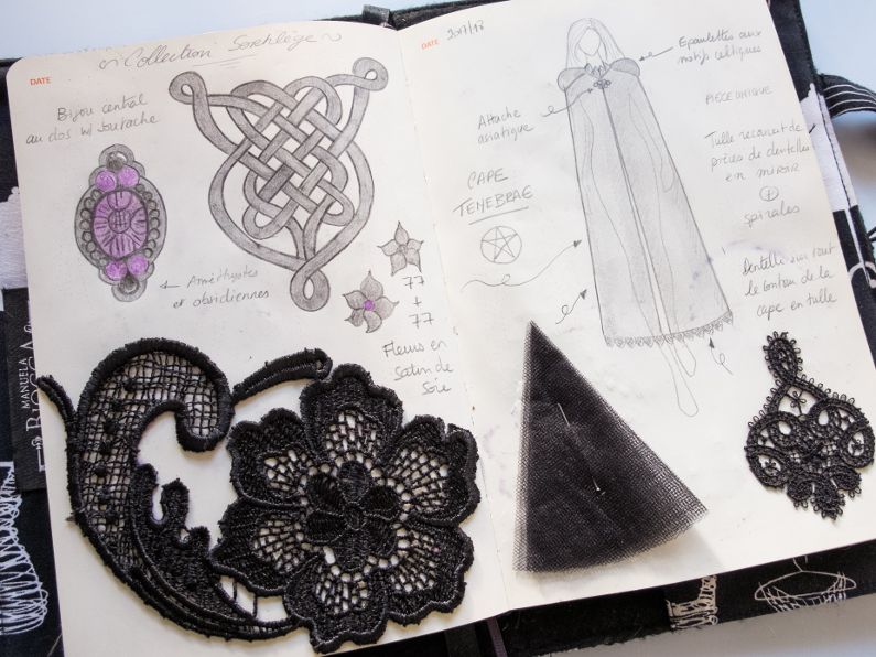 Designer's Sketchbook – Collection Sortilèges