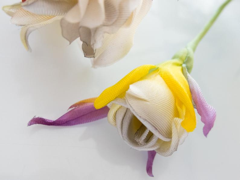 yellow silk rose