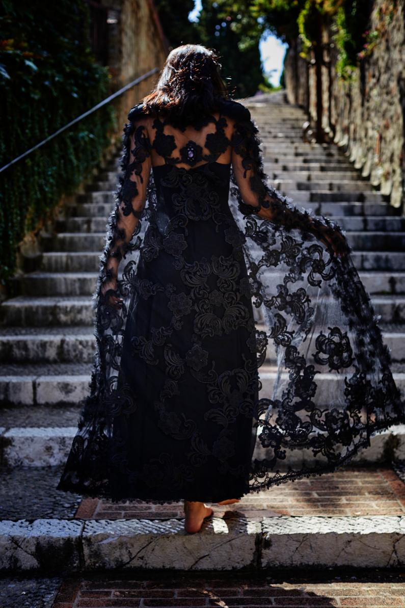 luxury lace cloak