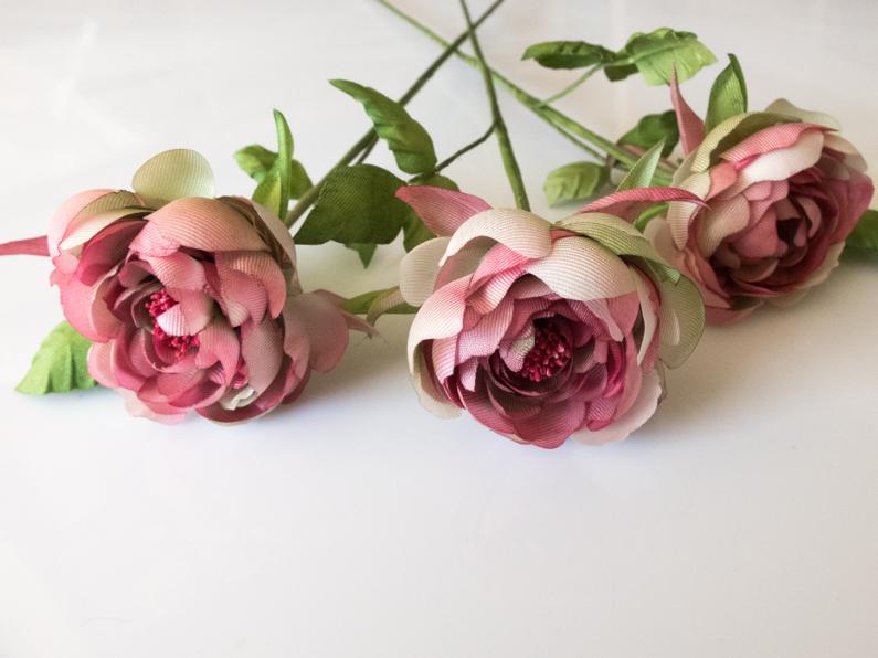 fleurs en soie faites main