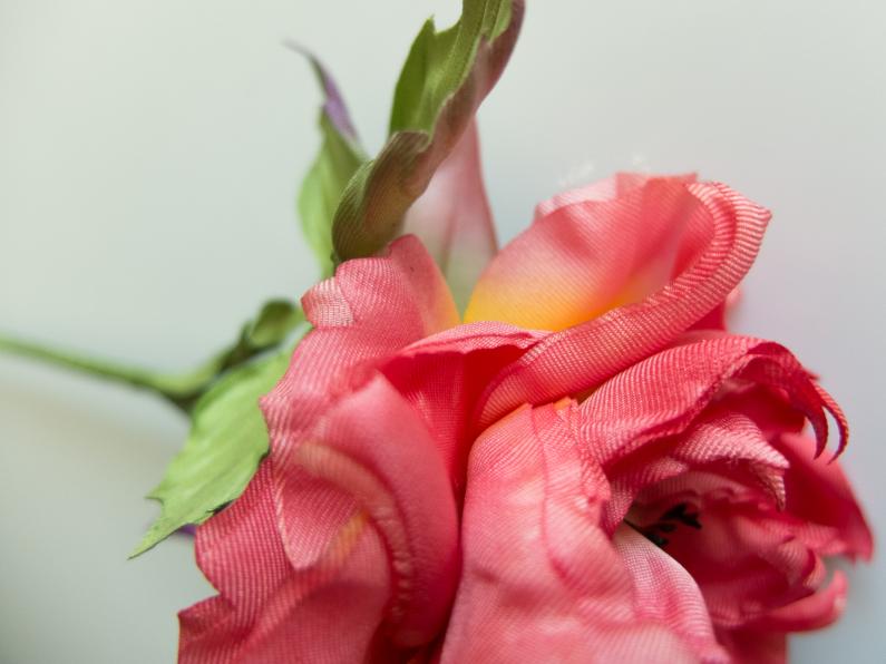 rose en soie rouge