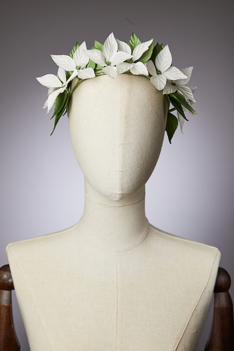 couronne de fleurs en soie