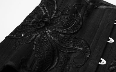 Collection privée – Serre-taille soie noire