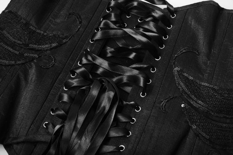serre taille soie noir