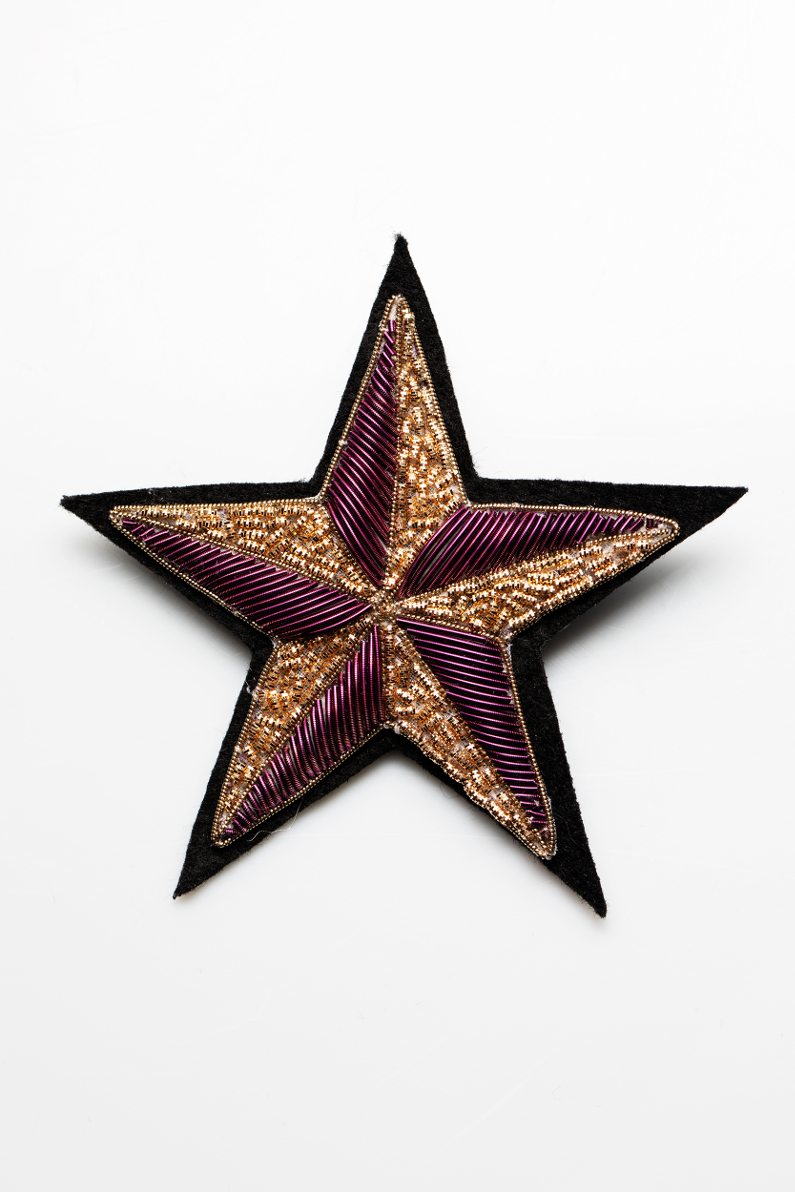 star gold embroidery