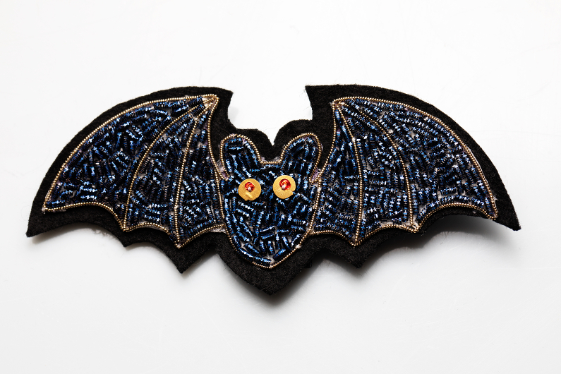 bat gold embroidery