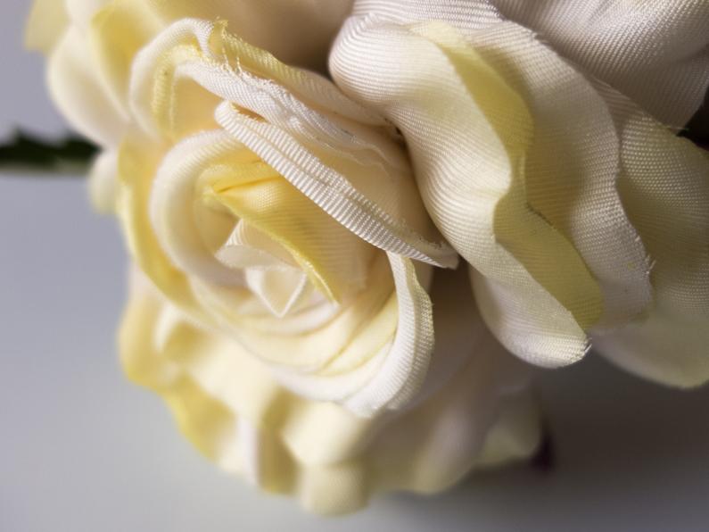 rose en soie